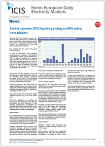 Icis-Serbian-power-OTC-liquidity-rising-on-EPS-sales-new-players
